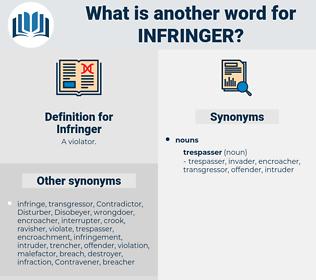 Infringer, synonym Infringer, another word for Infringer, words like Infringer, thesaurus Infringer