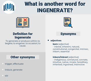 Ingenerate, synonym Ingenerate, another word for Ingenerate, words like Ingenerate, thesaurus Ingenerate