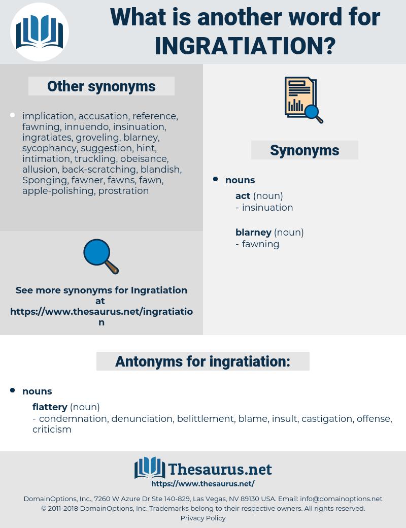 ingratiation, synonym ingratiation, another word for ingratiation, words like ingratiation, thesaurus ingratiation