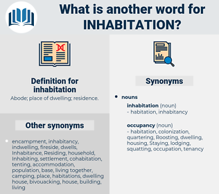 inhabitation, synonym inhabitation, another word for inhabitation, words like inhabitation, thesaurus inhabitation