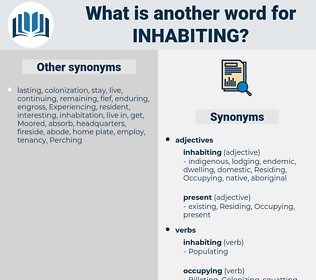 Inhabiting, synonym Inhabiting, another word for Inhabiting, words like Inhabiting, thesaurus Inhabiting