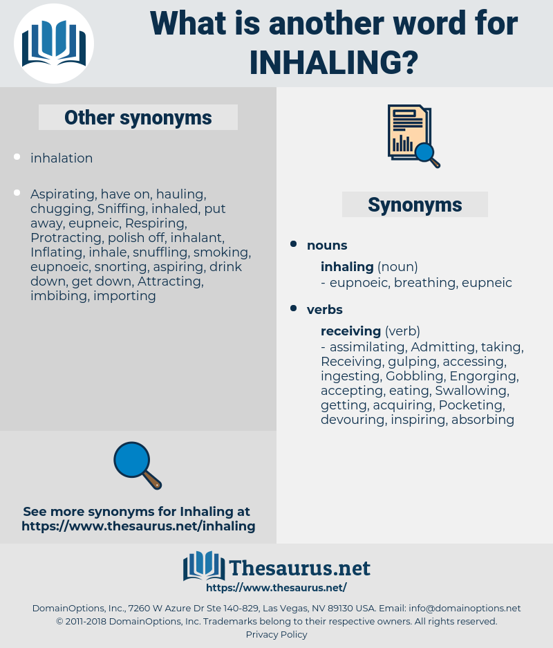 inhaling, synonym inhaling, another word for inhaling, words like inhaling, thesaurus inhaling