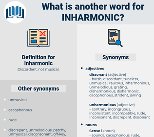 inharmonic, synonym inharmonic, another word for inharmonic, words like inharmonic, thesaurus inharmonic
