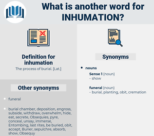inhumation, synonym inhumation, another word for inhumation, words like inhumation, thesaurus inhumation
