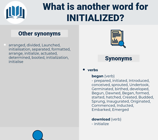 initialized, synonym initialized, another word for initialized, words like initialized, thesaurus initialized