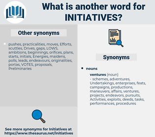 initiatives, synonym initiatives, another word for initiatives, words like initiatives, thesaurus initiatives