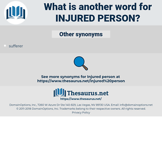 injured person, synonym injured person, another word for injured person, words like injured person, thesaurus injured person