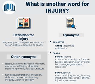 injury, synonym injury, another word for injury, words like injury, thesaurus injury