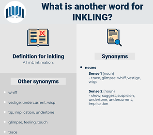 inkling, synonym inkling, another word for inkling, words like inkling, thesaurus inkling