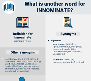 Innominate, synonym Innominate, another word for Innominate, words like Innominate, thesaurus Innominate