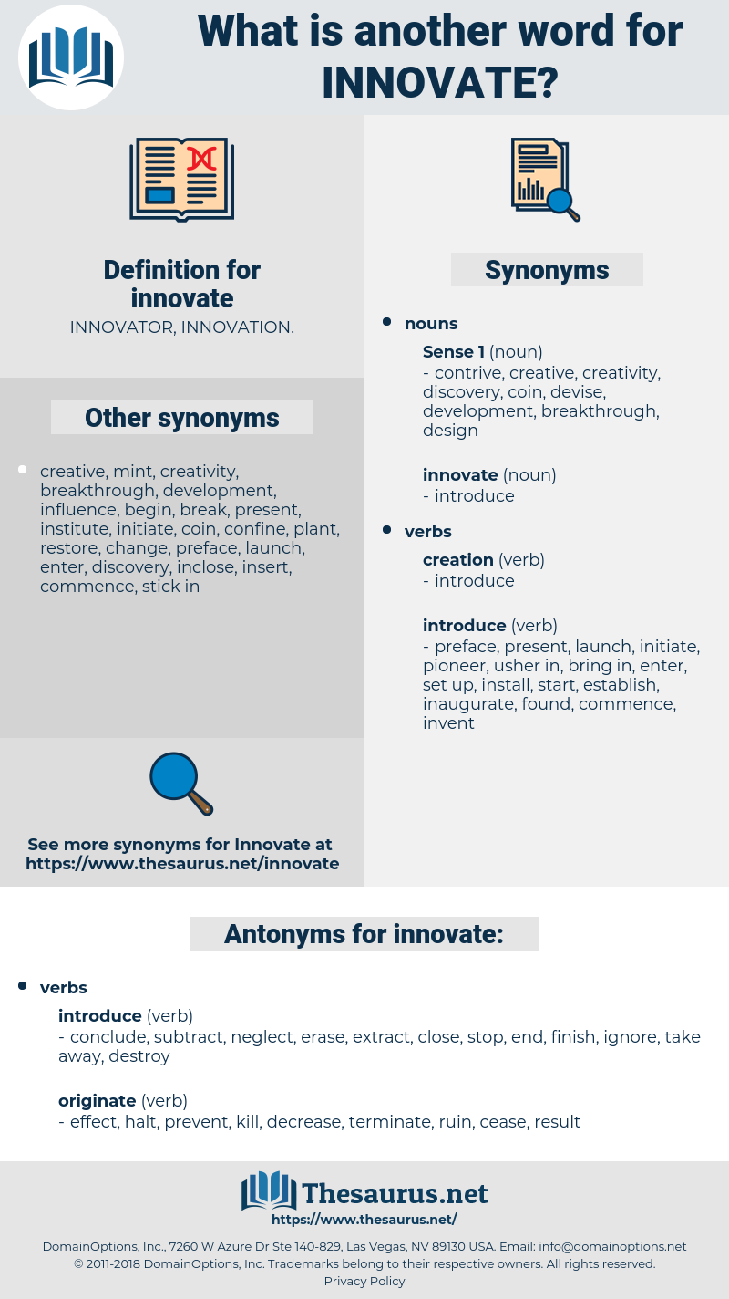 innovate, synonym innovate, another word for innovate, words like innovate, thesaurus innovate