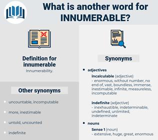 innumerable, synonym innumerable, another word for innumerable, words like innumerable, thesaurus innumerable