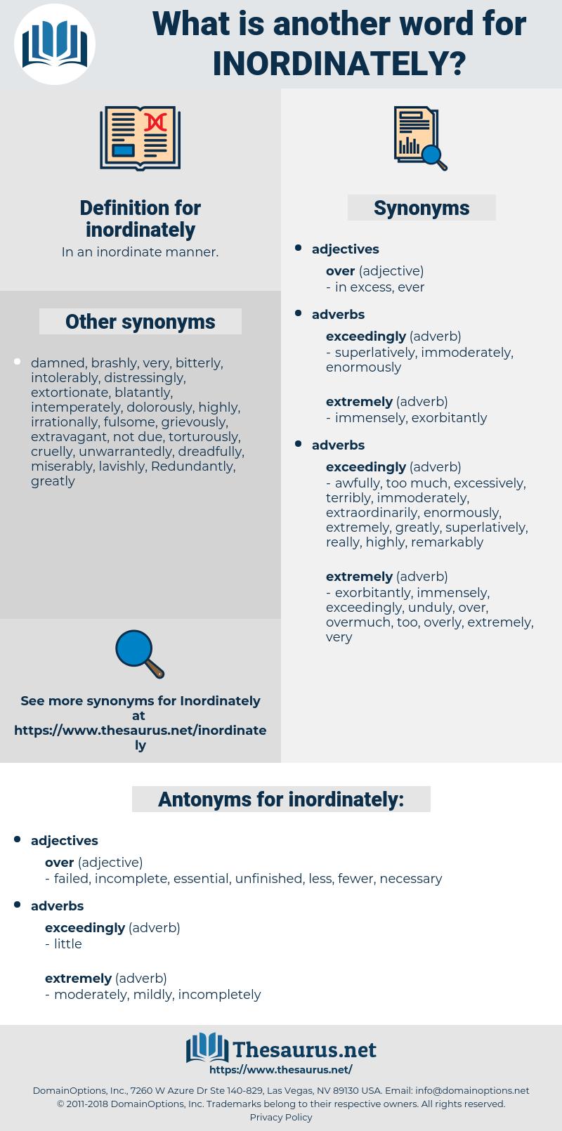 inordinately, synonym inordinately, another word for inordinately, words like inordinately, thesaurus inordinately