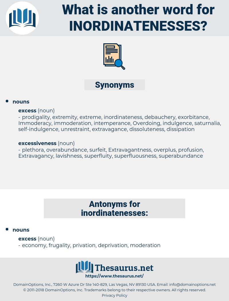 inordinatenesses, synonym inordinatenesses, another word for inordinatenesses, words like inordinatenesses, thesaurus inordinatenesses