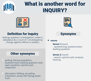 inquiry, synonym inquiry, another word for inquiry, words like inquiry, thesaurus inquiry