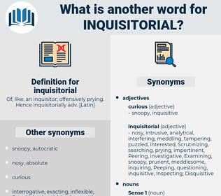 inquisitorial, synonym inquisitorial, another word for inquisitorial, words like inquisitorial, thesaurus inquisitorial
