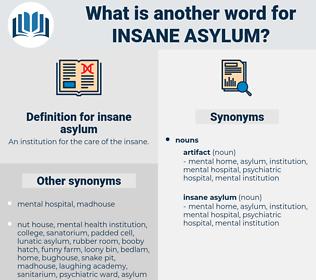 insane asylum, synonym insane asylum, another word for insane asylum, words like insane asylum, thesaurus insane asylum