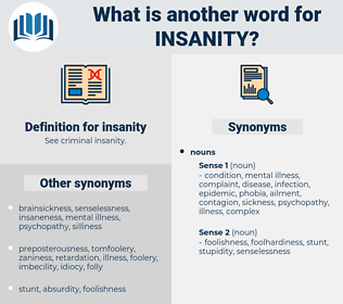 insanity, synonym insanity, another word for insanity, words like insanity, thesaurus insanity