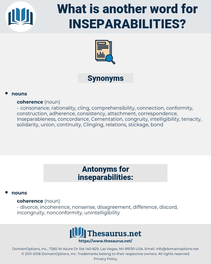 inseparabilities, synonym inseparabilities, another word for inseparabilities, words like inseparabilities, thesaurus inseparabilities