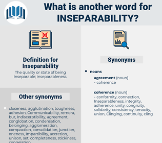 Inseparability, synonym Inseparability, another word for Inseparability, words like Inseparability, thesaurus Inseparability