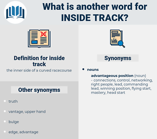 inside track, synonym inside track, another word for inside track, words like inside track, thesaurus inside track