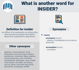 insider, synonym insider, another word for insider, words like insider, thesaurus insider
