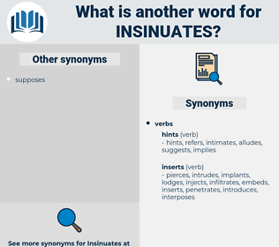 insinuates, synonym insinuates, another word for insinuates, words like insinuates, thesaurus insinuates