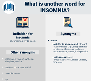 insomnia, synonym insomnia, another word for insomnia, words like insomnia, thesaurus insomnia