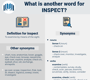 inspect, synonym inspect, another word for inspect, words like inspect, thesaurus inspect