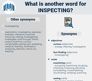 Inspecting, synonym Inspecting, another word for Inspecting, words like Inspecting, thesaurus Inspecting