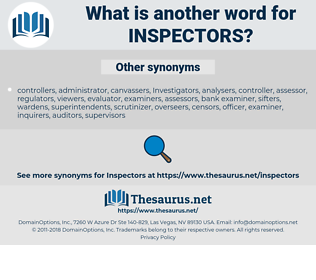 inspectors, synonym inspectors, another word for inspectors, words like inspectors, thesaurus inspectors