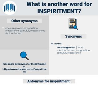 inspiritment, synonym inspiritment, another word for inspiritment, words like inspiritment, thesaurus inspiritment