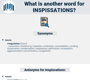 inspissations, synonym inspissations, another word for inspissations, words like inspissations, thesaurus inspissations