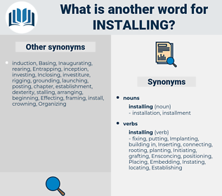 installing, synonym installing, another word for installing, words like installing, thesaurus installing