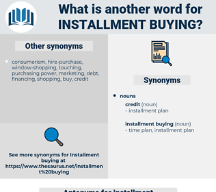 installment buying, synonym installment buying, another word for installment buying, words like installment buying, thesaurus installment buying