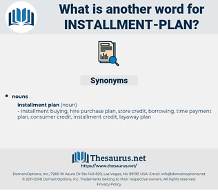 installment plan, synonym installment plan, another word for installment plan, words like installment plan, thesaurus installment plan