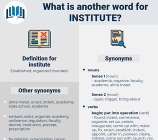 institute, synonym institute, another word for institute, words like institute, thesaurus institute