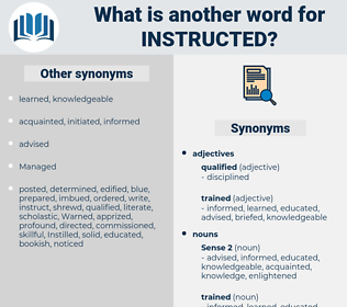 instructed, synonym instructed, another word for instructed, words like instructed, thesaurus instructed