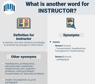 instructor, synonym instructor, another word for instructor, words like instructor, thesaurus instructor