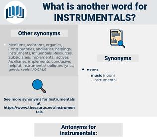 instrumentals, synonym instrumentals, another word for instrumentals, words like instrumentals, thesaurus instrumentals
