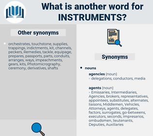instruments, synonym instruments, another word for instruments, words like instruments, thesaurus instruments