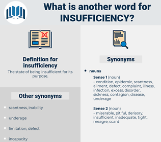 insufficiency, synonym insufficiency, another word for insufficiency, words like insufficiency, thesaurus insufficiency