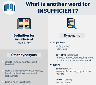 insufficient, synonym insufficient, another word for insufficient, words like insufficient, thesaurus insufficient