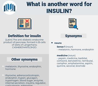 insulin, synonym insulin, another word for insulin, words like insulin, thesaurus insulin