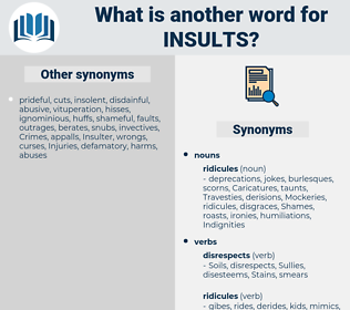 insults, synonym insults, another word for insults, words like insults, thesaurus insults