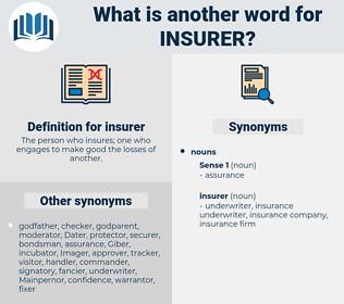 insurer, synonym insurer, another word for insurer, words like insurer, thesaurus insurer