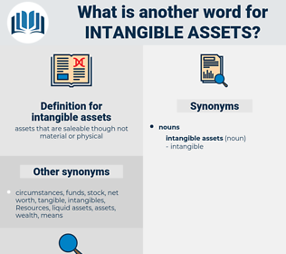 intangible assets, synonym intangible assets, another word for intangible assets, words like intangible assets, thesaurus intangible assets