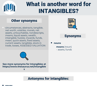 intangibles, synonym intangibles, another word for intangibles, words like intangibles, thesaurus intangibles