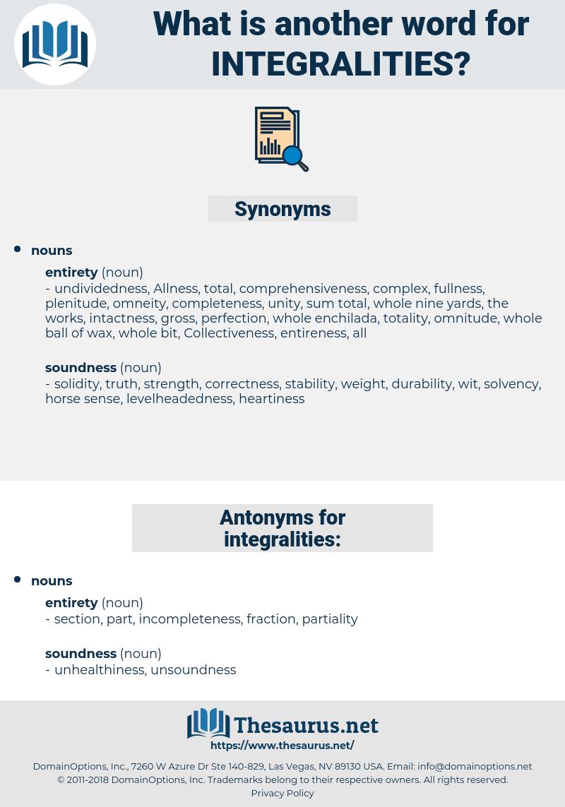 integralities, synonym integralities, another word for integralities, words like integralities, thesaurus integralities