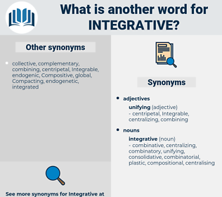 integrative, synonym integrative, another word for integrative, words like integrative, thesaurus integrative